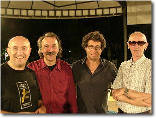 quartetto di Alberto Barattini (da sx Carlo, Fabio De March basso, Alberto Barattini tastiere ed il