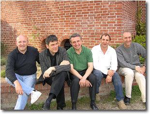 Jazzcom: Carlo, Danilo Pala sax contralto, Corrado Abbate pianoforte, Gigi Di Gregorio sax tenore e Roberto Giolito contrabbasso