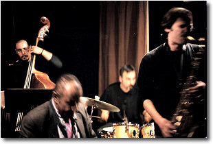 with Paul Jeffrey Quartet - phot by M. Vincenzo D'Aleo