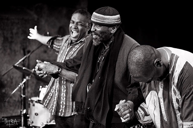 Pyramid trio: Roy Cambell, William Parker, Michael Wimberly